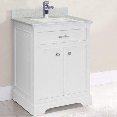 Coventry 31 Single Vanity Set Top Finish: Ajax White, Faucet Mount: Single