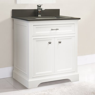 Coventry 31 Single Vanity Set Faucet Mount: Single, Top Finish: Ash Grey