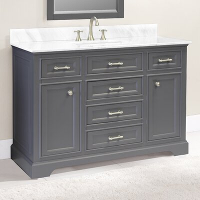 Coventry 49 Single Vanity Set Top Finish: Ash Gray, Faucet Mount: Single