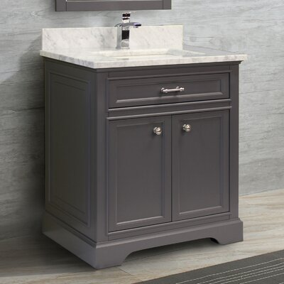 Coventry 31 Single Vanity Set Top Finish: Nova White, Faucet Mount: Single