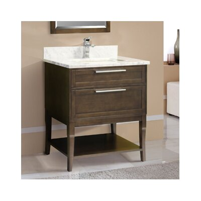 Accra 31 Single Vanity Set Top Finish: Ash Grey, Faucet Mount: 8 Centers