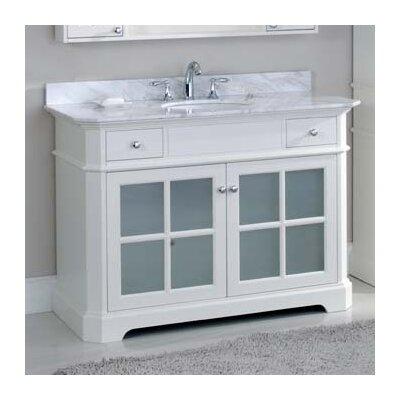 Monterey 48 Single Bathroom Vanity Set Top Finish: Ajax White