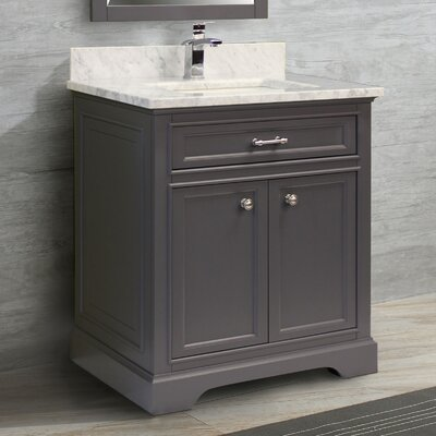 Coventry 31 Single Vanity Set Top Finish: Ash Grey, Faucet Mount: Single