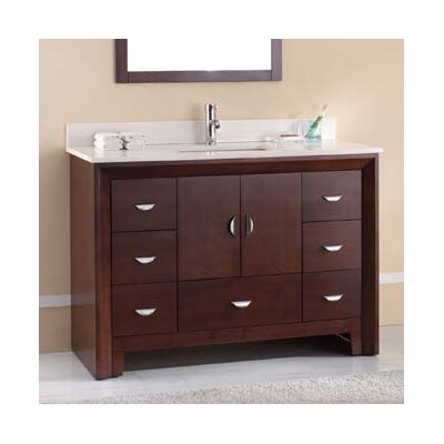 Melbourne 49 Single Bathroom Vanity Set Top Finish: Ajax White, Faucet Mount: 8 Centers