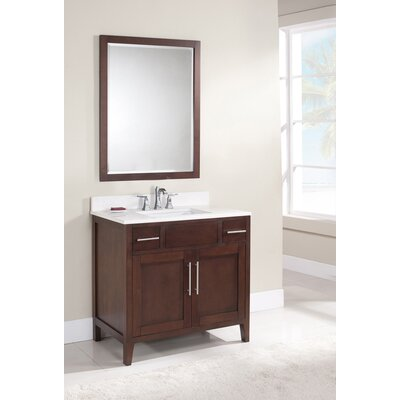 Lisbon 37 Single Bathroom Vanity Set Top Finish: Nova White, Faucet Mount: 8 Centers