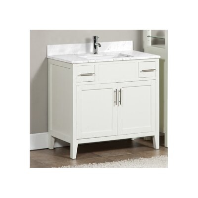 Lisbon 37 Single Bathroom Vanity Set Top Finish: Ash Grey, Faucet Mount: Single