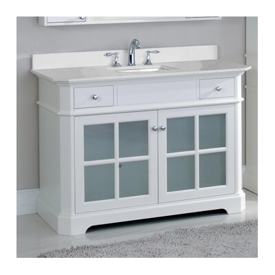 Monterey 48 Single Bathroom Vanity Set Top Finish: Nova White