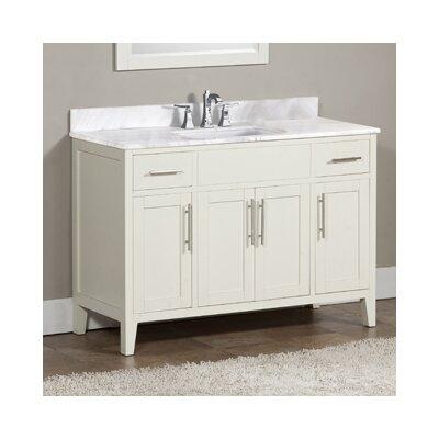 Lisbon 49 Single Bathroom Vanity Set Top Finish: Ajax White, Faucet Mount: 8 Centers