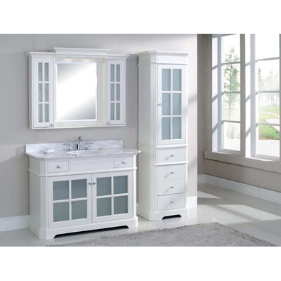 Monterey 48 Single Vanity Set Top Finish: Nova White