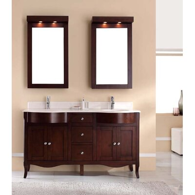 Dalian 60 Double Vanity Set Top Finish: Ajax White