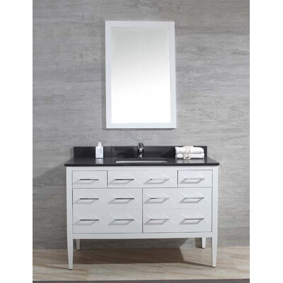 Vienna 49 Single Bathroom Vanity Set Top Finish: Ash Grey