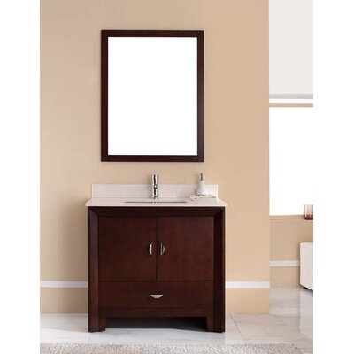Melbourne 37 Single Bathroom Vanity Set Top Finish: Nova White
