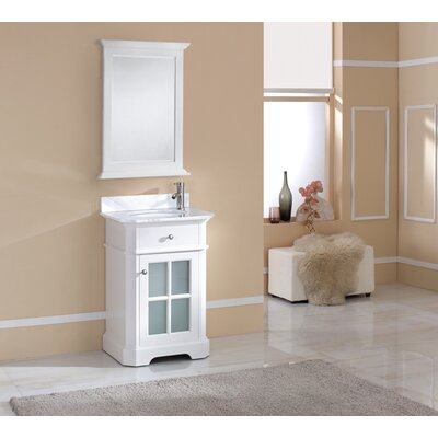 Monterey 24 Single Vanity Set Top Finish: Ajax White