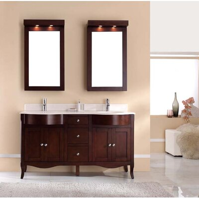 Dalian 60 Double Vanity Set Top Finish: Nova White