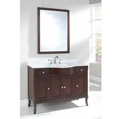 Dalian 48 Single Vanity Set Top Finish: Ajax White
