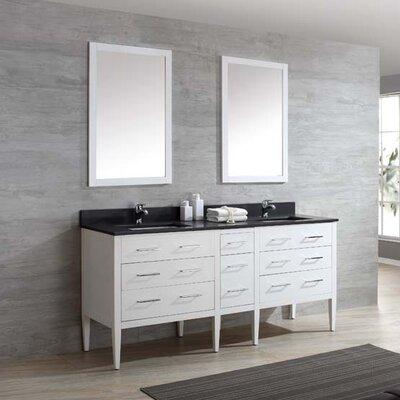 Vienna 73 Double Bathroom Vanity Set Top Finish: Nova White