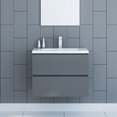 Samaira 30 Single Bathroom Vanity Set Base Finish: Gray