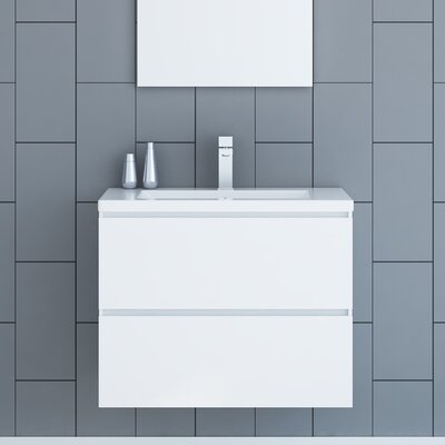Samaira 30 Single Bathroom Vanity Set Base Finish: White