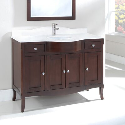 Dalian 48 Centerset Vanity Set Top Finish: Nova White