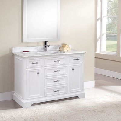 Coventry 49 Single Vanity Set Top Finish: Ajax White, Faucet Mount: Single