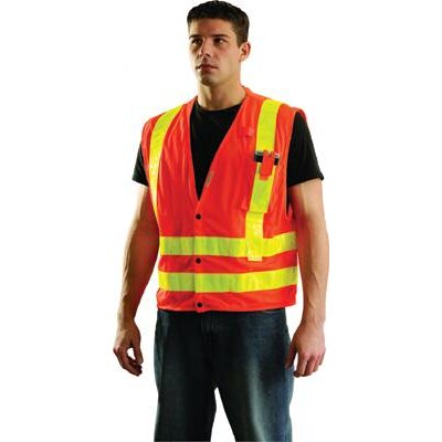 occunomix Orange OccuLux L'Orange Mesh Vest With 3M Scotchlite Reflective Tape at Sears.com