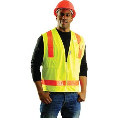 occunomix Yellow OccuLux L'Yellow Surveyor's Vest With 13 Pockets And Zipper at Sears.com