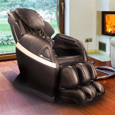 Refresh Zero Gravity Reclining Massage Chair Upholstery: Bronze