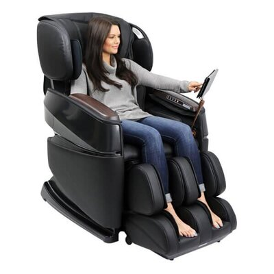 Smart 3D Zero Gravity Reclining Massage Chair Upholstery: Black