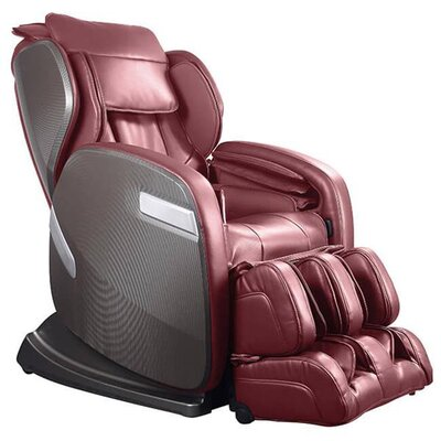 Active Supertrac Faux Leather Zero Gravity Reclining Massage Chair Upholstery: Cherry