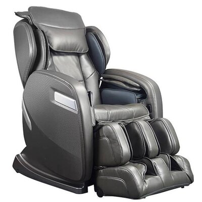 Active Supertrac Faux Leather Zero Gravity Reclining Massage Chair Upholstery: Graphite