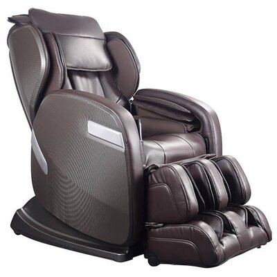 Active Supertrac Faux Leather Zero Gravity Reclining Massage Chair Upholstery: Chocolate