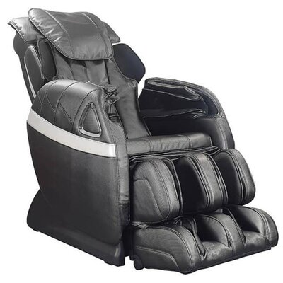 Refresh Zero Gravity Reclining Massage Chair Upholstery: Black