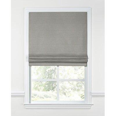 Linen Blend Flat Roman Shade Width: 34, Length: 72