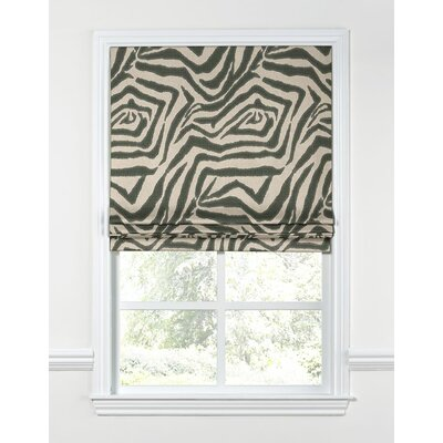 Animal Print Zebra Flat Roman Shade Length: 48, Width: 27