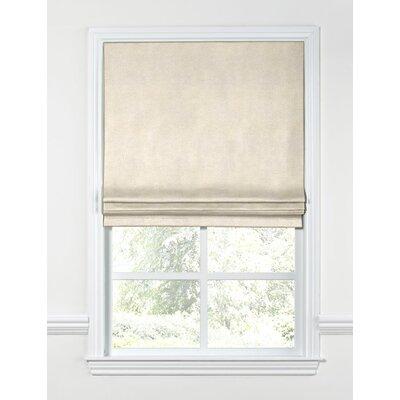 Shimmer Linen Flat Roman Shades Length: 64, Width: 27
