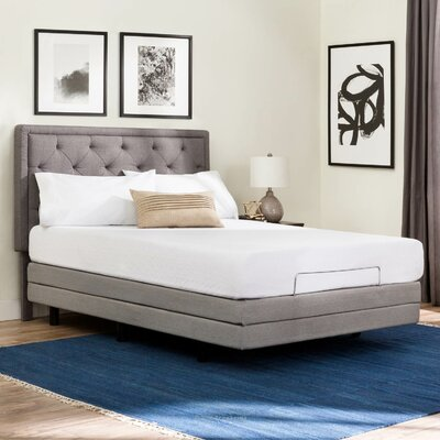 Deluxe Upholstered Adjustable Bed Size: Twin