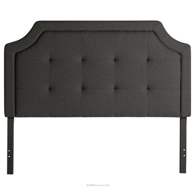 Fleurette Scoop-Edge Upholstered Panel Headboard Size: King, Upholstery: Charcoal