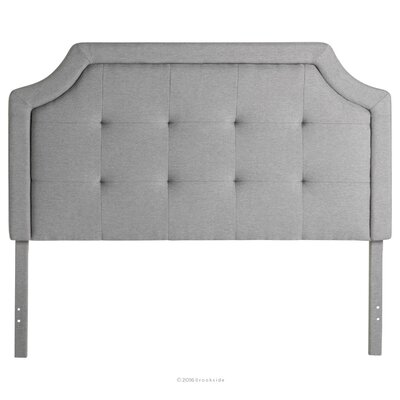 Fleurette Scoop-Edge Upholstered Panel Headboard Size: Twin/Twin XL, Upholstery: Stone