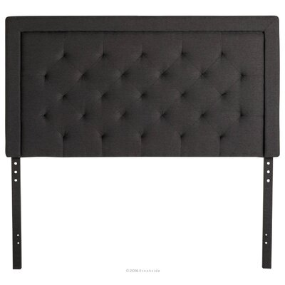 Felicienne Upholstered Panel Headboard with Diamond Tufting Size: Twin, Upholstery: Charcoal