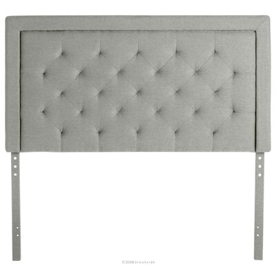 Felicienne Upholstered Panel Headboard with Diamond Tufting Size: Twin, Upholstery: Stone