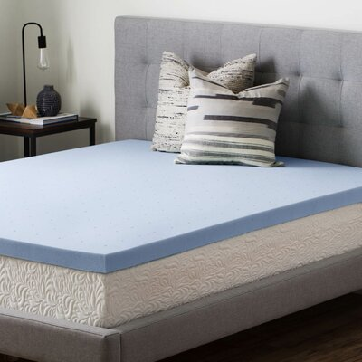 2.5 Gel Memory Foam Mattress Topper Size: King