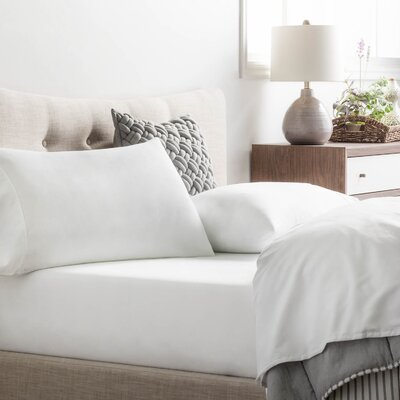 Inniss Sheet Set Size: Spilt Queen, Color: White