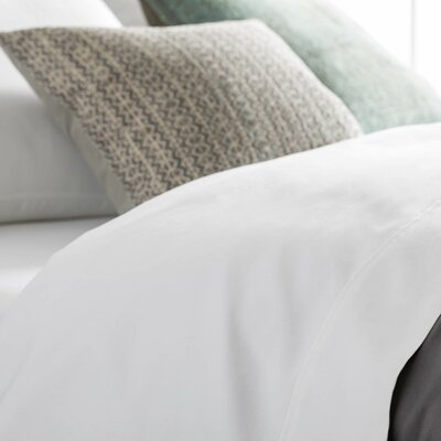 Crissman 600 Thread Count Sateen Sheet Set Size: Split Queen, Color: White