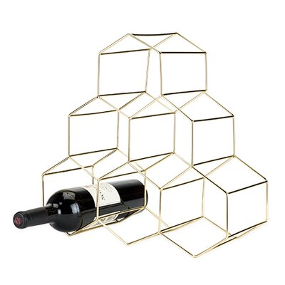 Belmont� Geomatric 6 Bottle Tabletop Wine Bottle Rack