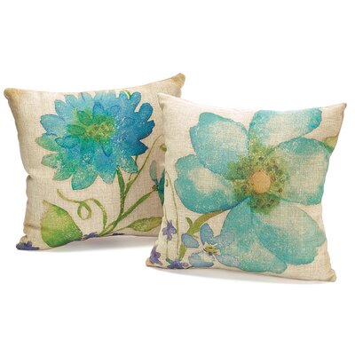2 Piece Floral Fresh Throw Pillow Set