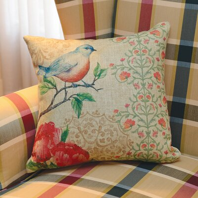 Blossoming Birds Throw Pillow