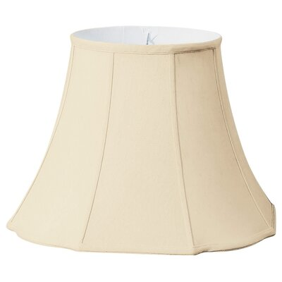 Timeless Flare Bottom Scallop 18 Silk Bell Lamp Shade Color: Beige