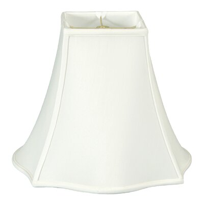 12 Silk/Shantung Bell Lamp Shade Color: White