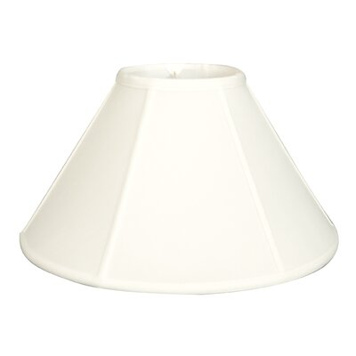 Regal 18 Silk/Shantung Empire Lamp Shade Color: White