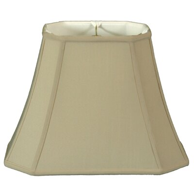 Timeless 16 Silk Bell Lamp Shade Color: Beige/Gold